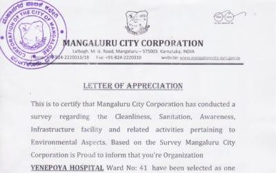 Letter of Appreciation – Mangaluru City Corporation