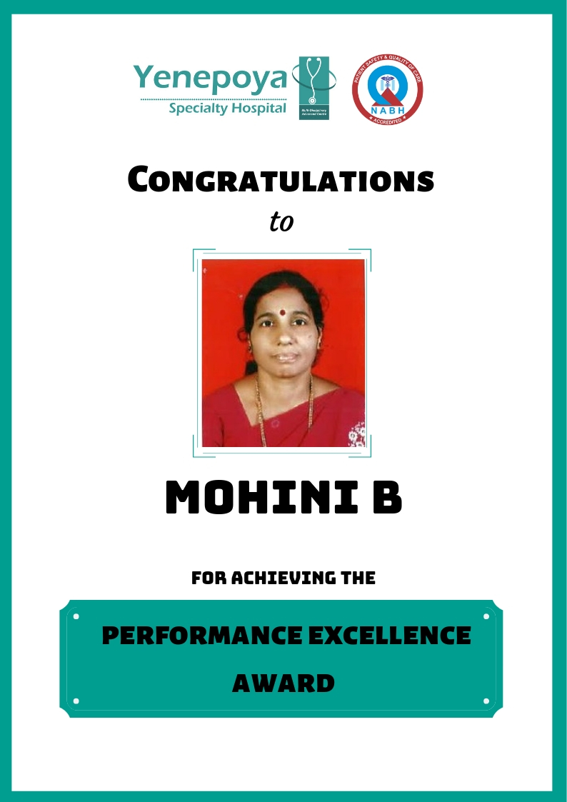 Winner of Performance Excellence Award