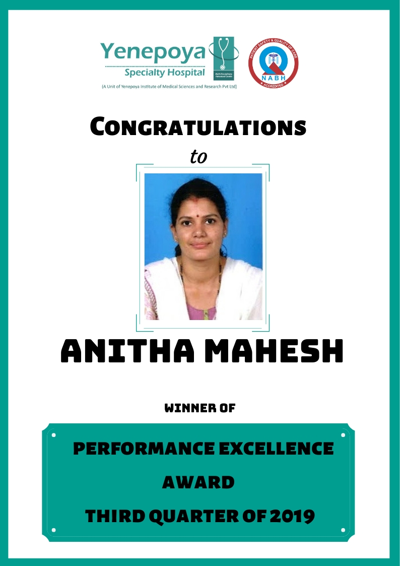 Performace Excellence Award Third Quarter – 2019