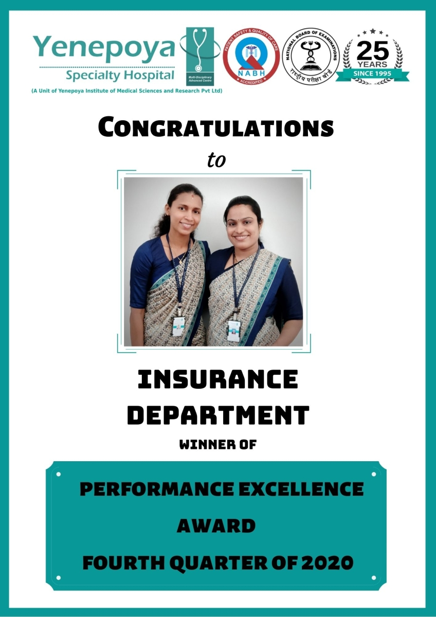 Performance Excellence Award Fourth Quarter – 2020